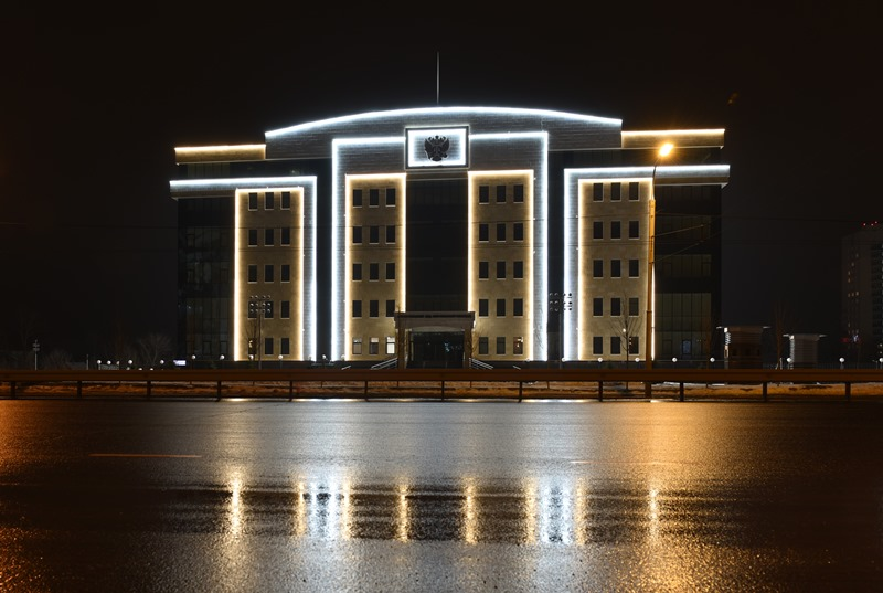подсветка зданий - освещение зданий архитектурными прожекторами